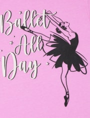 Girls Ballet All Day Graphic Tee