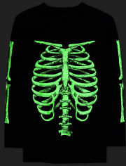 Mens Dad And Me Glow Skeleton Graphic Tee