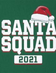 Unisex Kids Matching Family Santa Squad Graphic Tee