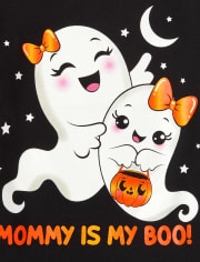 Baby and Toddler Girls Ghosts Graphic Tee