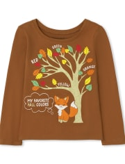 Baby and Toddler Girls Fall Colors Graphic Tee