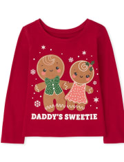 Baby and Toddler Girls Gingerbread Graphic Tee