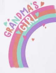 Baby And Toddler Girls Grandma's Girl Graphic Tee