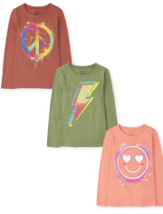 Girls Trend Graphic Tee 3-Pack