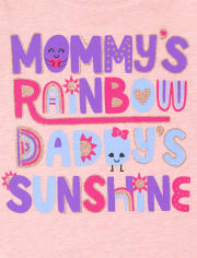 Toddler Girls Rainbow Family Graphic Tee 3-Pack