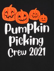 Unisex Adult Matching Family Pumpkin Picking Graphic Tee
