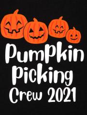 Unisex Toddler Matching Family Pumpkin Picking Graphic Tee