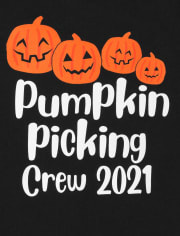 Unisex Baby Matching Family Pumpkin Picking Graphic Bodysuit