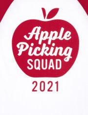 Unisex Kids Matching Family Apple Picking Graphic Tee