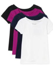 Baby And Toddler Girls Basic Layering Tee 4-Pack