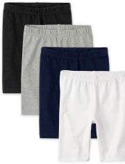 Girls Mix And Match Bike Shorts 4-Pack