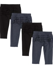 Baby Girls Pants 4-Pack