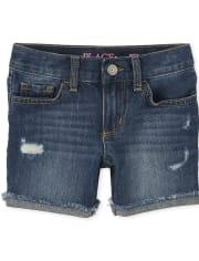 Girls Denim Shorts 2-Pack