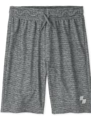 Boys Marled Performance Basketball Shorts 2-Pack