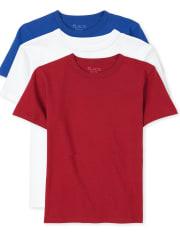 Paquete de 3 camisetas básicas de uniforme para niños