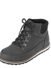 Boys Lace Up Hi Top Boots