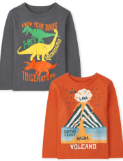 Toddler Boys Science Graphic Tee 2-Pack