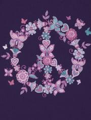 Girls Unicorn Peace Snug Fit Cotton Pajamas 2-Pack