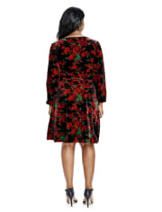 Womens Mommy And Me Floral Velour Dress