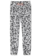 Girls Leopard Cozy Jogger Leggings