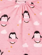 Baby Girls Penguin Bodysuit 4-Pack