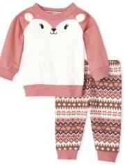 Baby Girls Deer 2-Piece Playwear Set
