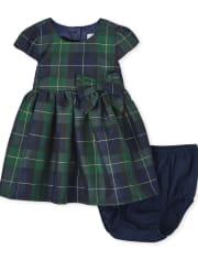 Baby Girls Plaid Dress