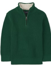 Baby And Toddler Boys Half Zip Mock Neck Sweater
