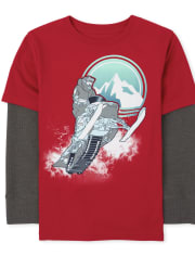 Boys Graphic Thermal 2 In 1 Top