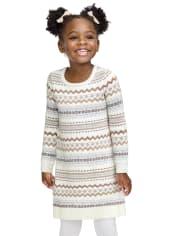 Baby And Toddler Girls Fairisle Sweater Dress