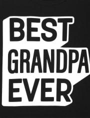 Camiseta con gráfico de abuelo familiar a juego para hombre