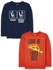 Boys Humor Graphic Tee 2-Pack