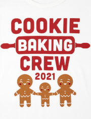 Camiseta unisex con estampado de equipo de panadería familiar a juego para adultos