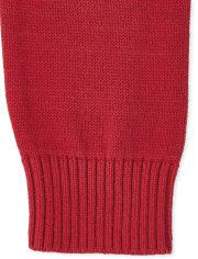 Boys Christmas Fairisle Shawl Neck Sweater