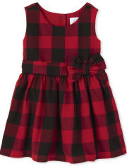 Toddler Girls Buffalo Plaid Dress