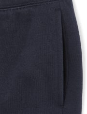 Boys Uniform Zip Up Hoodie And Fleece Jogger Pants 2-Piece Set