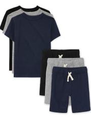 Boys Uniform Layering Tee 6-Piece Set