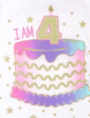 Girls 4th Birthday Graphic Tee 2-Pack