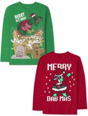 Boys Christmas Graphic Tee 2-Pack