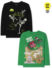 Boys Holiday Graphic Tee 2-Pack