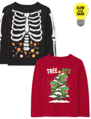 Toddler Boys Holiday Graphic Tee 2-Pack