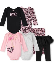 Baby Girls Mix And Match Leopard 6-Piece Set
