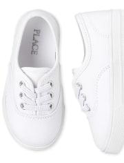 Paquete de 2 zapatillas bajas de uniforme para niñas pequeñas