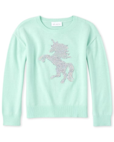 The Childrens Place Girls Graphic Sweater
