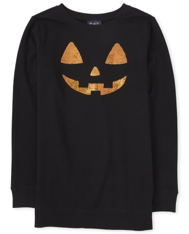 Womens Mommy And Me Halloween Pumpkin Matching Tunic Sweatshirt