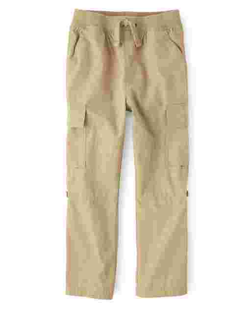 Boys Woven Pull On Cargo Pants - Opening Day And Whale Hello There