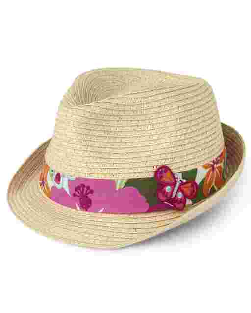 Girls Butterfly Fedora - Summer Safari