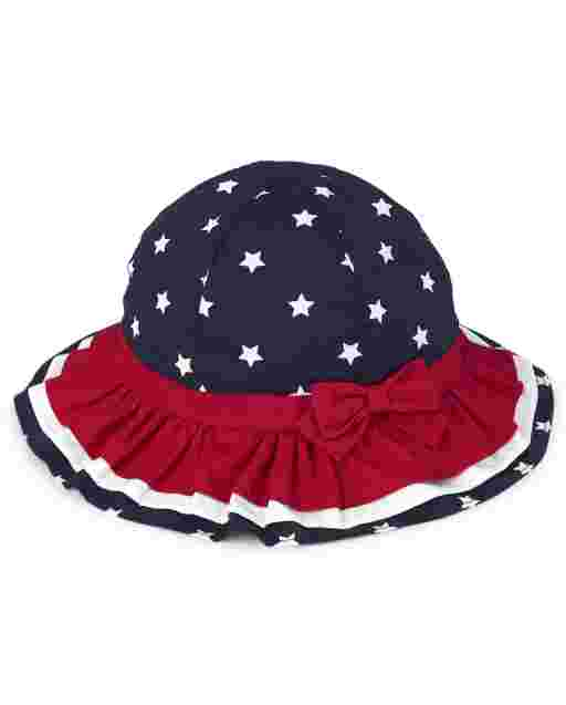 Girls Star Print Bucket Hat - American Cutie