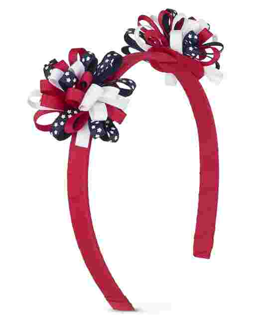 Girls Curly Star Headband - American Cutie