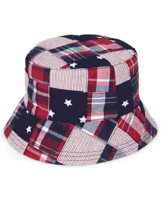 Boys Madras Bucket Hat - American Cutie